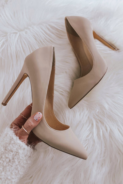 Classic nude pumps.