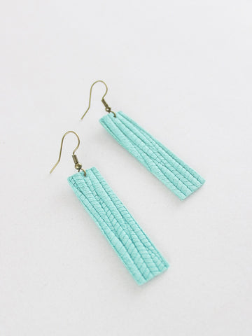 Jones & Lake Palm Leaf Strap Earrings