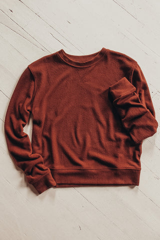 Basic Lightweight Crewneck Sweatshirt