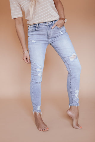 KanCan KC 8373M light wash mid rise jean.