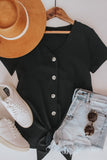 Button front black top.
