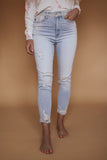 KanCan Light Wash High Rise Ankle Skinny Jean
