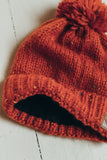 Speckled Fleece Lined Pom Pom Beanie