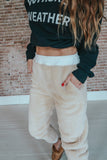 Teddy Fur Jogger Pants