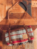 Pendleton Plaid Throw w/ Leather Carrier