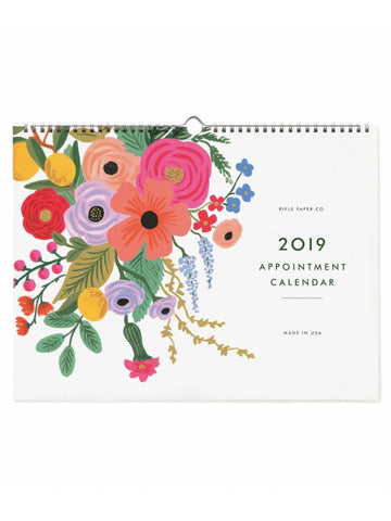 Rifle Paper Co. 2019 Garden Party Appointment Wall Calendar