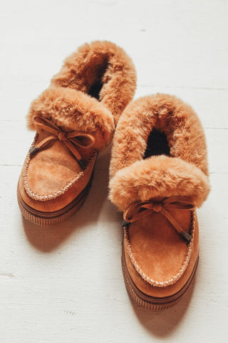 Chunky Sole Faux Suede Moccasins