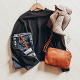 Crew Neck Boxy Knit Top