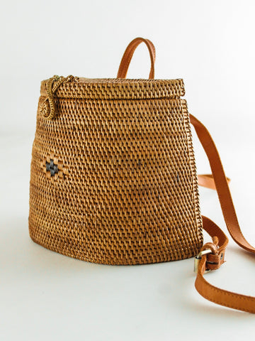 Woven Basket Backpack