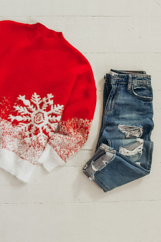 Snowflake Winter Sweater