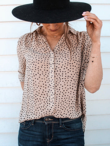 Spotty Dotty Button Down Blouse