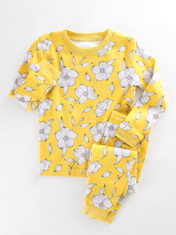 Golden Blooms Pajama Set