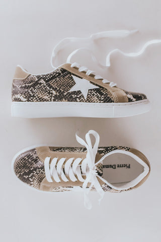 Snake print sneakers. Golden goose knock offs.