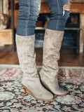 Wedged Heel Knee High Boots