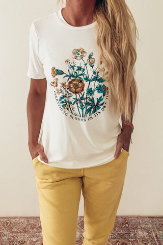 Blooms Butter Soft Graphic Tee