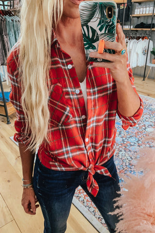 Boyfriend Fit Plaid Shirt