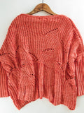 Chenille Cutout Sweater