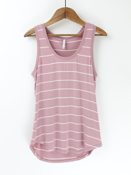 The Pencil Striped Jersey Tank