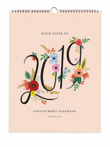 Rifle Paper Co. 2019 Bouquet Appointment Wall Calendar