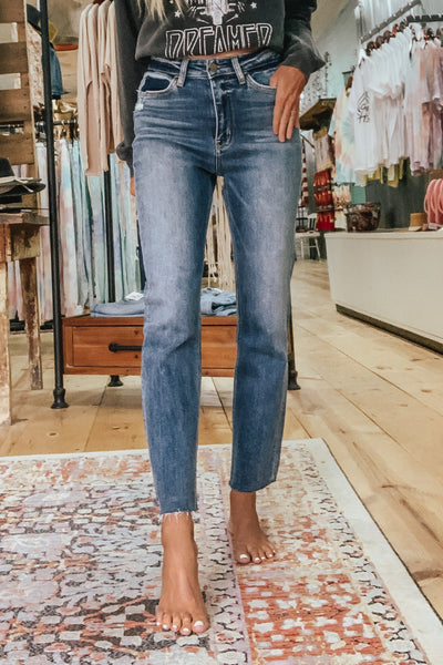 Flying Monkey Super High Ankle Straight Jeans