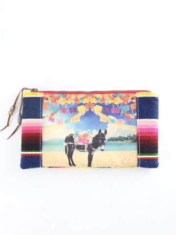 Totem Salvaged Beach Burro Clutch