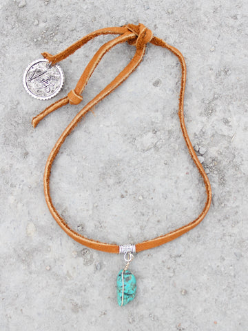 Vestige Choker Necklace with Turquoise Nugget