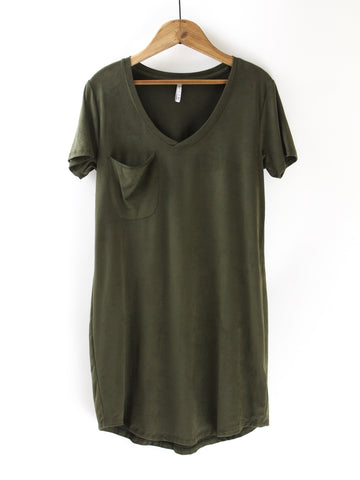 Z Supply The Faux Suede Dress