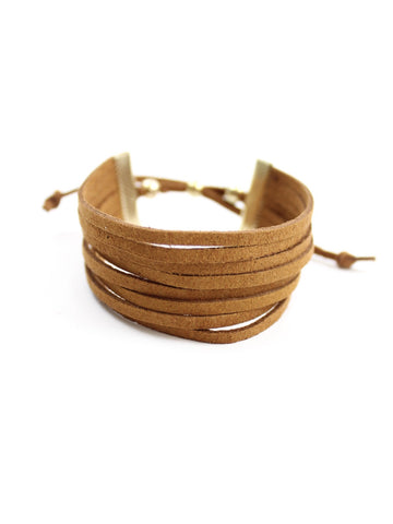 Multi Layered Suede Bracelet