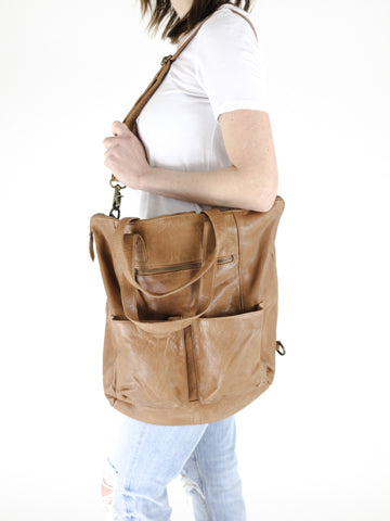 Leather Convertible Tote/Backpack