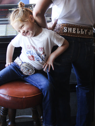 Raised On Honky Tonk Vintage Kid's Tee