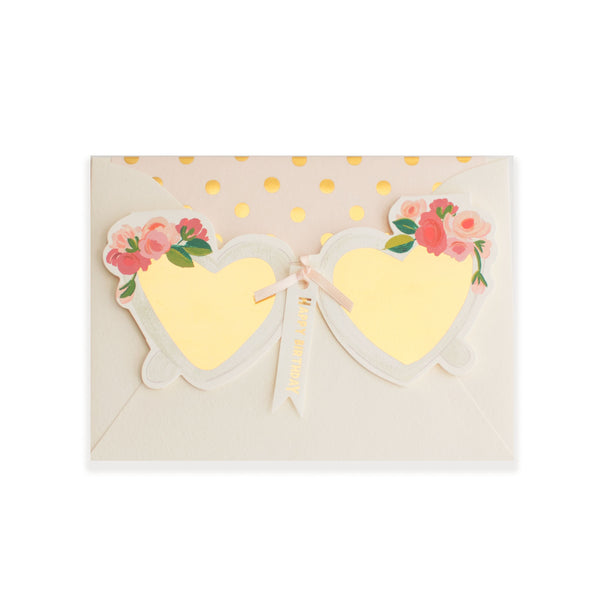 Happy Birthday! Heart Sunglasses Die Cut Card