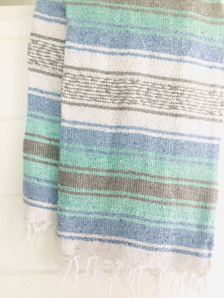 Sea Gypsy California - Salty Sailor Fall Blanket l Mexican Blanket l Throw Blanket