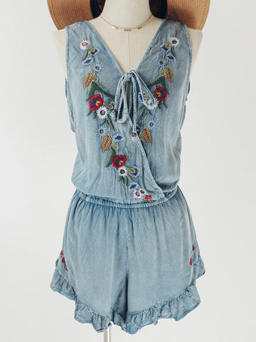 cc21164f3cd43 Floral Embroidered Romper