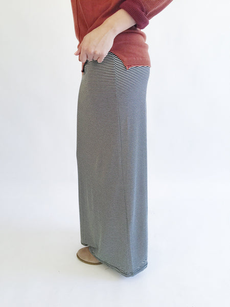 The Minimalist Striped Maxi Skirt