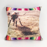 Totem Salvaged Longhorn Steer Pillow