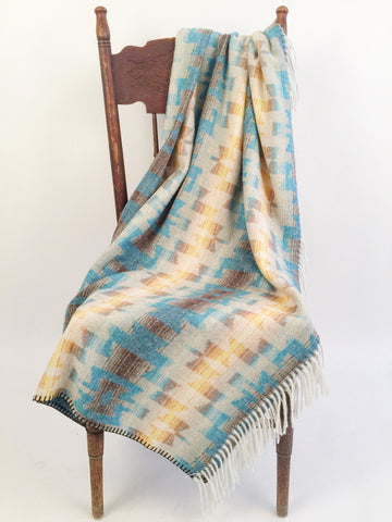 Turquoise Sky Fringe Throw Blanket