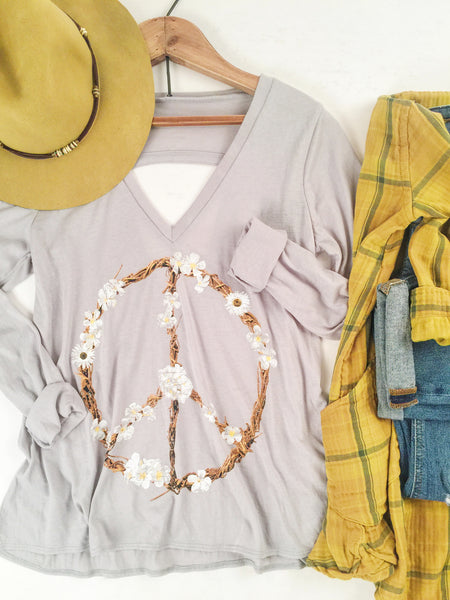 Chaser Petal Peace Wreath Shirt