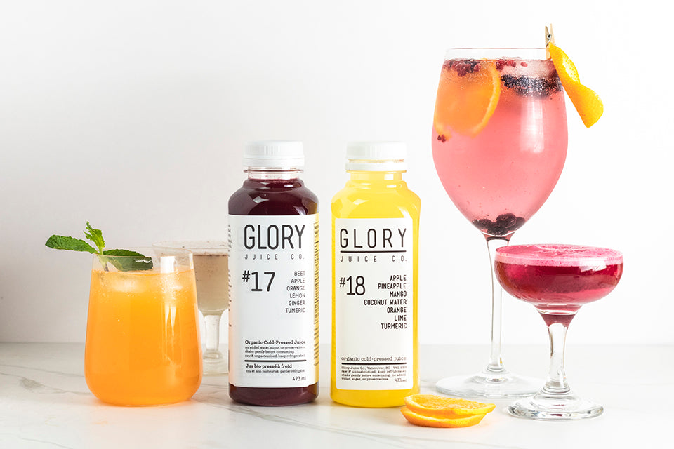 Cocktail Recipes Made With Cold-Pressed Glory Juice