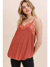 Load image into Gallery viewer, Lace Trim Racerback Cami