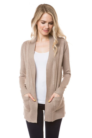 Basic Regular Length Cardigan
