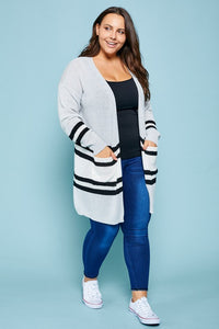 Varsity Stripe Cardigan Sweater
