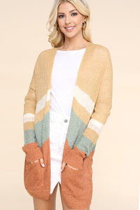 Colorblock Knit Cardigan