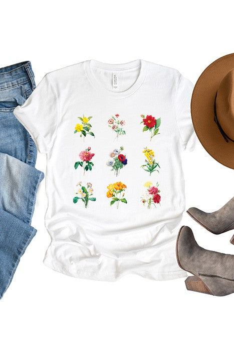 Colorful Flowers Graphic Tee