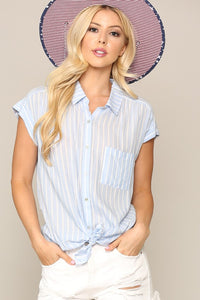 Stripped Button Down Shirt