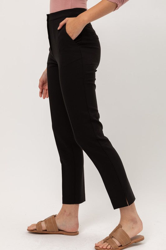 Stretchy Woven Ankle Pant