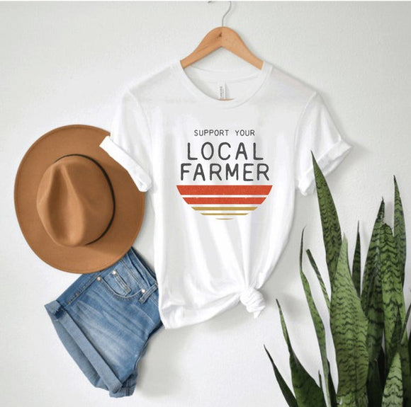 Support Your Local Farmer Graphic Tee