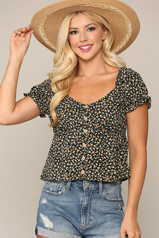 Floral Sweetheart Top