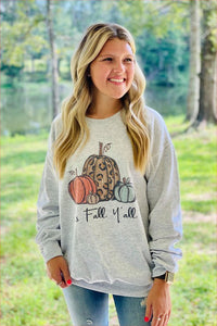 Fall Y'all Crewneck Sweatshirt