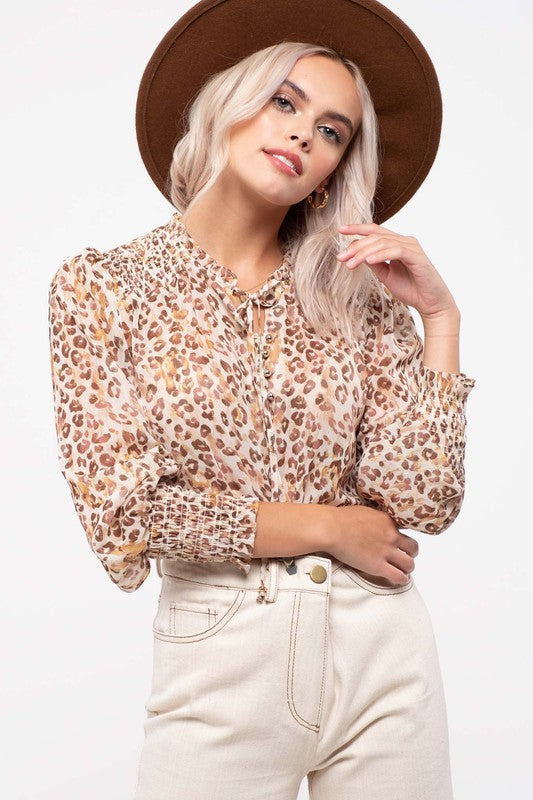 Sheer Leopard Top