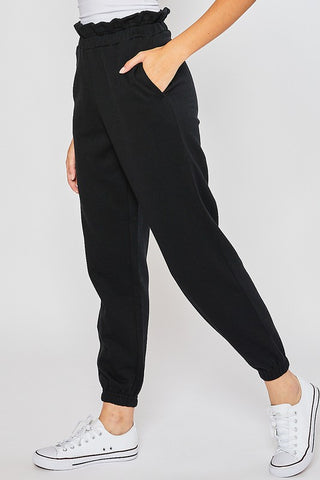 Paperbag Waist Fleece Jogger